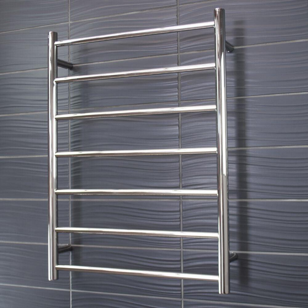 Radiant Heated Towel Rail Round 600x800 (Chrome)