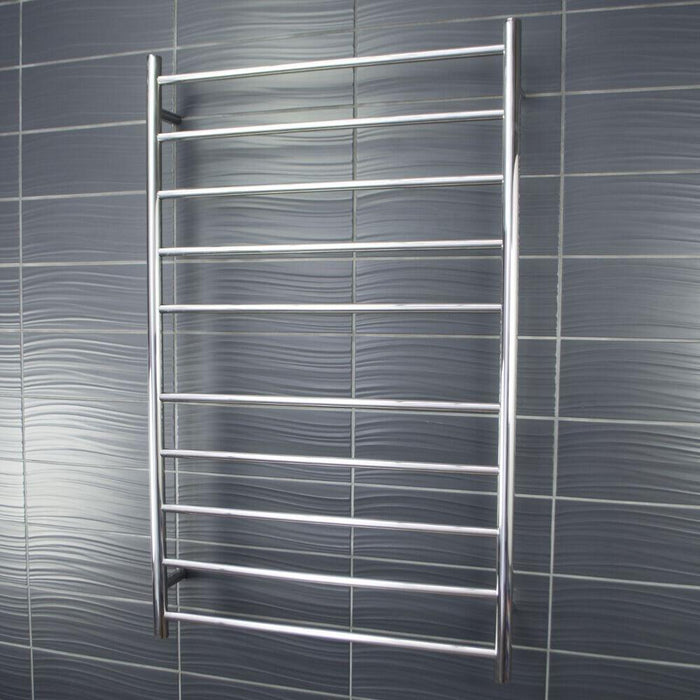 Radiant Heated Towel Rail Round 750x1220 Round (Chrome)