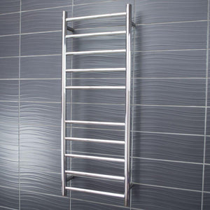 Radiant Heated Towel Rail Round 430x1100 (Chrome)