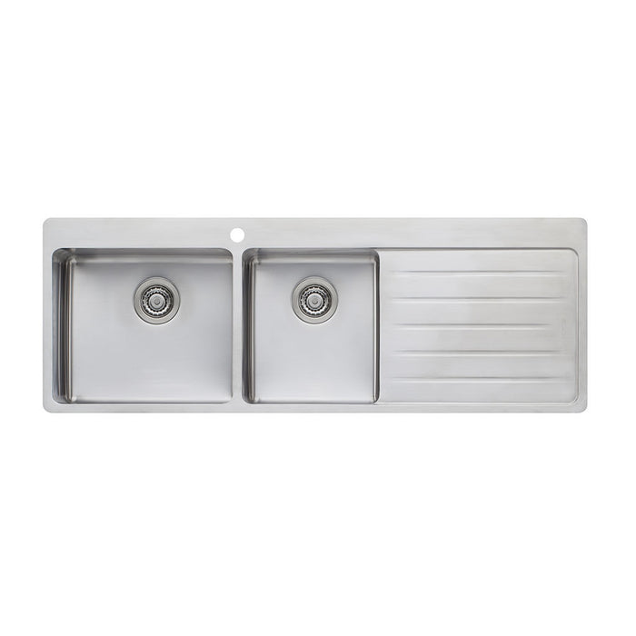 Sonetto 1 & 3/4 Bowl Topmount Sink with Drainer