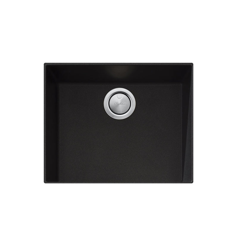 Oliveri Santorini Black Large Bowl Undermount Sink ST-BL1550U