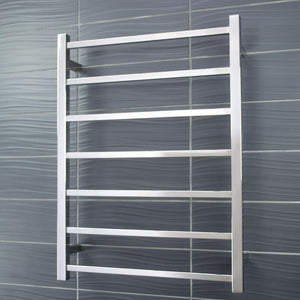 Radiant Heated Towel Rail Square 600x800 (Brushed Satin)