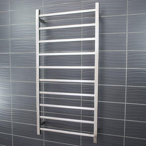 Radiant Heated Towel Rail Square 600x1200 (Chrome)