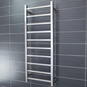 Radiant Heated Towel Rail Square 430x1100 (Chrome)