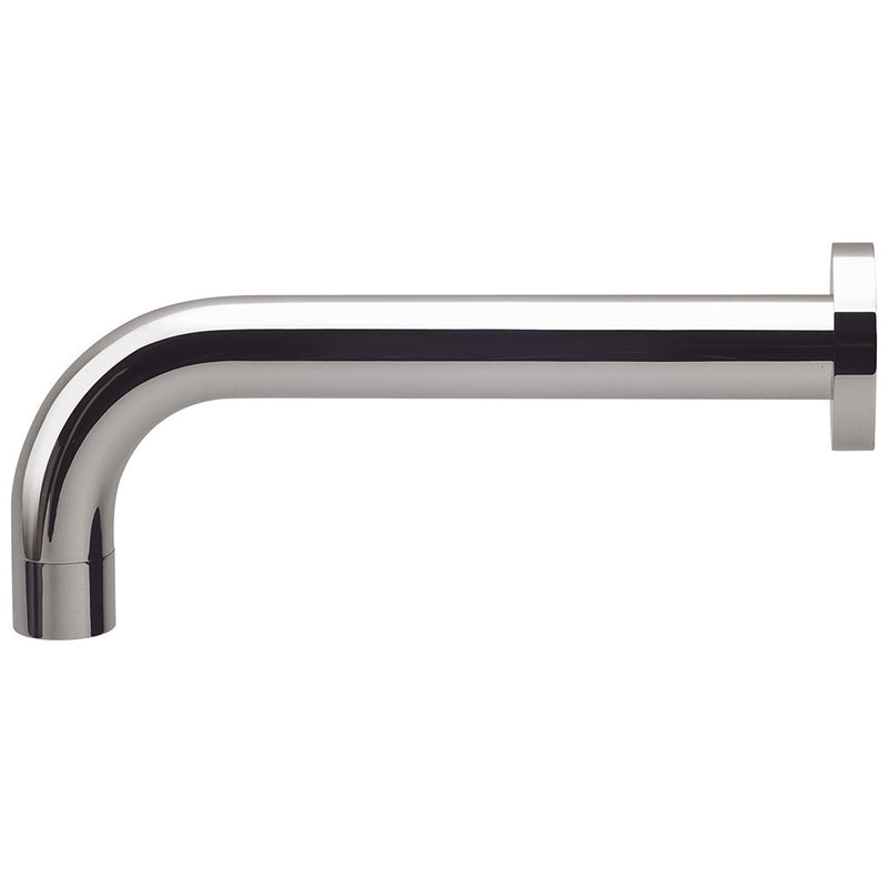 Phoenix Tapware Vivid Wall Basin Outlet Curved 200mm (Chrome) V252CHR