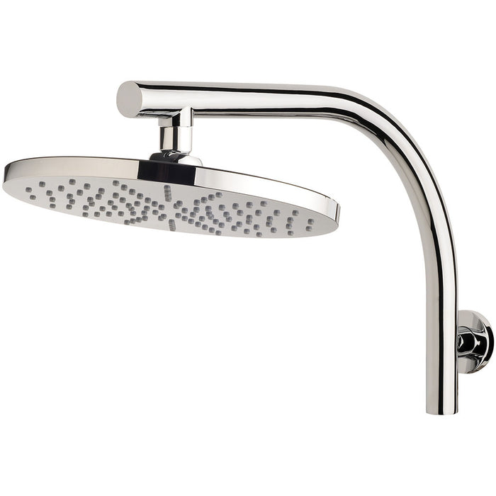 Vivid Curved Shower Arm & 230mm Round Rose (Chrome)