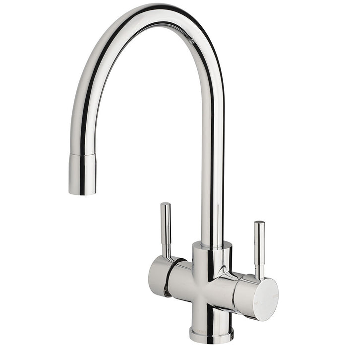 Vivid Filtered Sink Mixer 220mm Gooseneck with Filters (Chrome)
