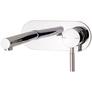 Phoenix Tapware Vivid Wall Bath Set 150mm Straight Outlet (Chrome) V787CHR