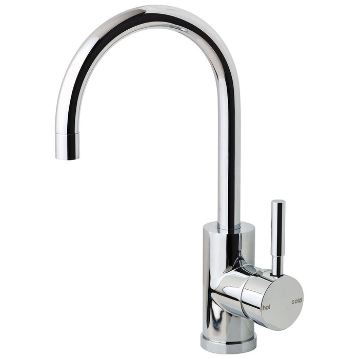 Vivid Sink Mixer 160mm Gooseneck (Chrome)