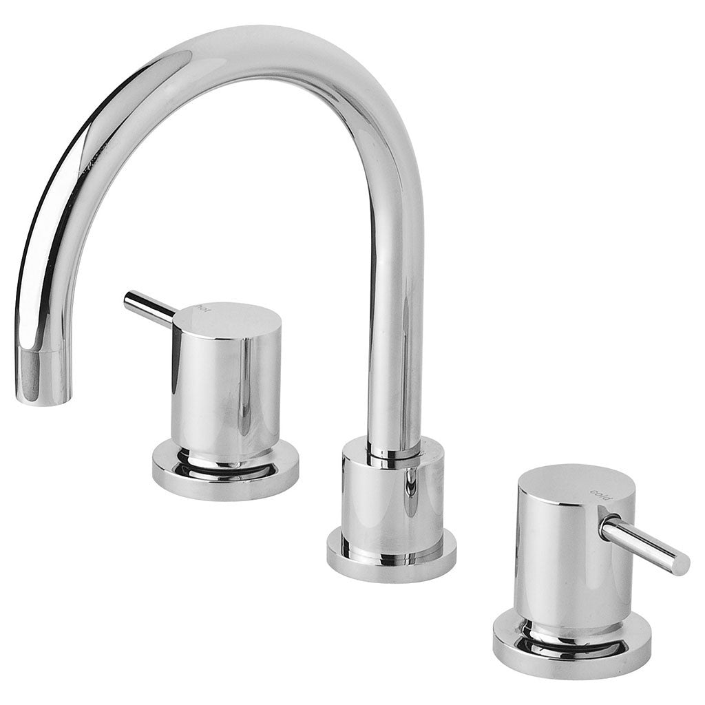 Phoenix Tapware Vivid Pin Lever Basin Set Swivel Gooseneck Outlet (Chrome) VP101CHR