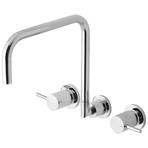 Phoenix Tapware Vivid Pin Lever Wall Sink Set Squareline (Chrome) VP815CHR
