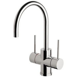 Phoenix Tapware Vivid Slimline Twin Handle Sink Mixer 160mm G/N (Chrome) VS711CHR