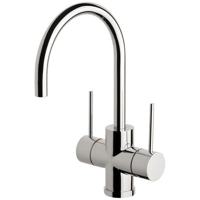 Vivid Slimline Twin Handle Sink Mixer 160mm G/N (Chrome)