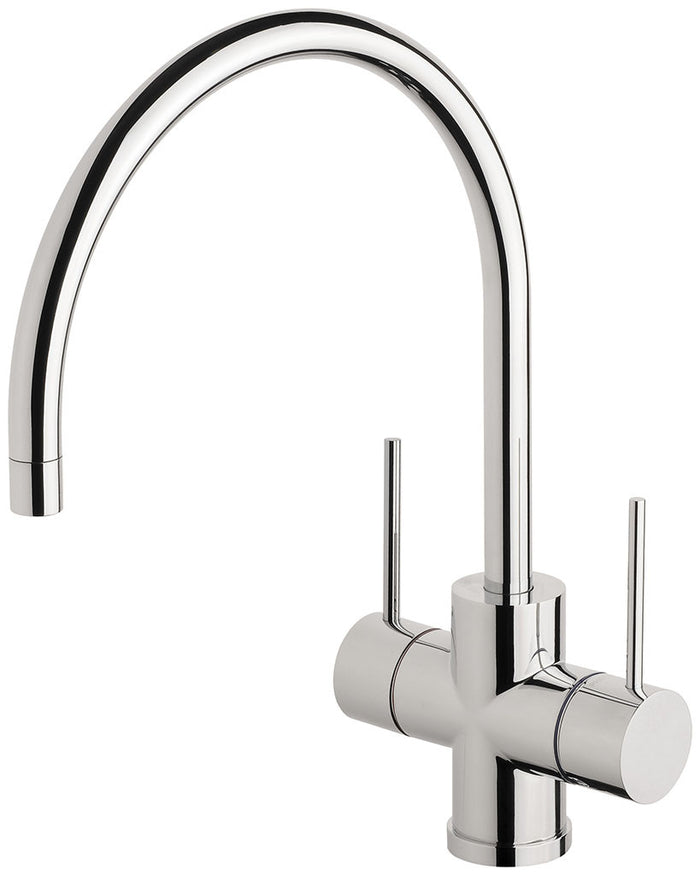 Vivid Slimline Twin Handle Sink Mixer 220mm G/N (Chrome)