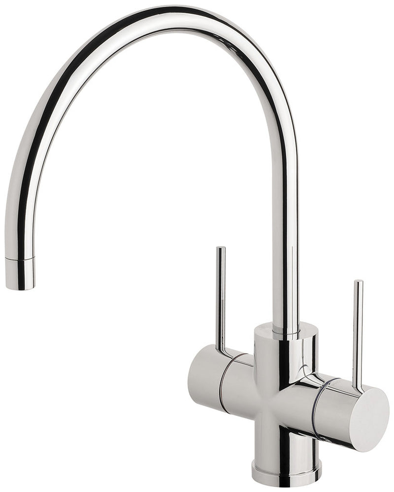 Phoenix Tapware Vivid Slimline Twin Handle Sink Mixer 220mm G/N (Chrome) VS712CHR