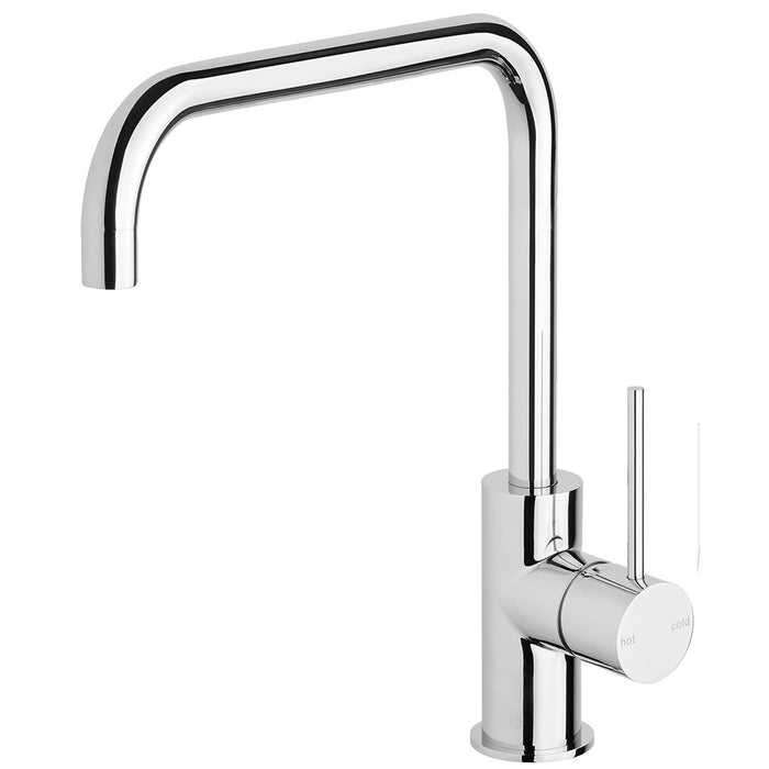Vivid Slimline Side Lever Sink Mixer 220mm Squareline (Chrome)