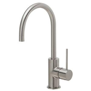 Phoenix Tapware Vivid Slimline Side Lever Sink Mixer 160mm Gooseneck (Brushed Nickel) VS735BN