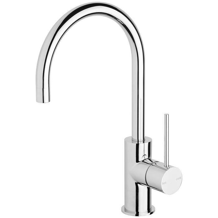 Vivid Slimline Side Lever Sink Mixer 160mm Gooseneck (Chrome)
