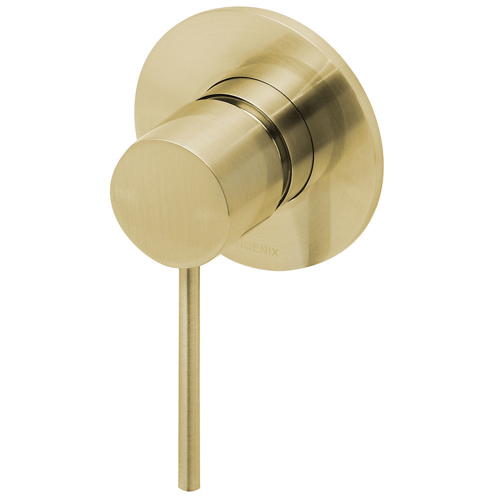 Phoenix Tapware Vivid Slimline Shower / Wall Mixer (Brushed Gold) VS780-12