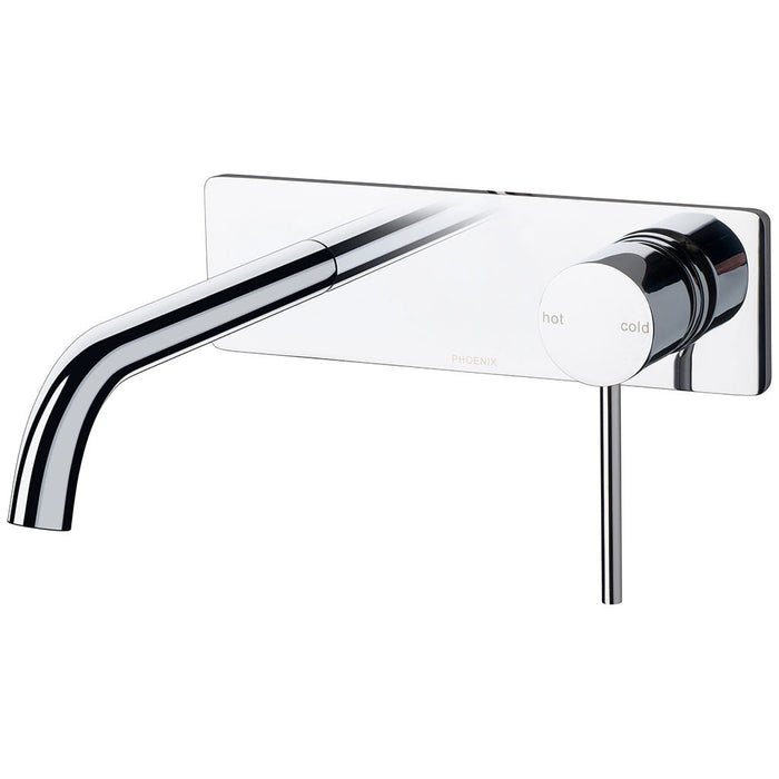 Vivid Slimline Wall Bath Set 180mm Curved (Chrome)