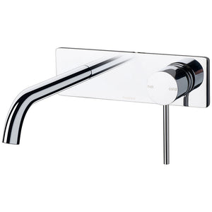 Phoenix Tapware Vivid Slimline Wall Basin Set 180mm Curved (Chrome) VS785CHR