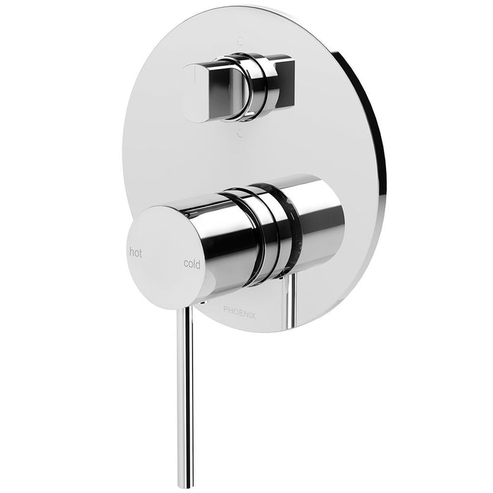 Vivid Slimline Shower / Bath Diverter Mixer (Chrome)