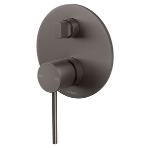 Phoenix Tapware Vivid Slimline Shower / Bath Diverter Mixer (Gun Metal) VS791GM