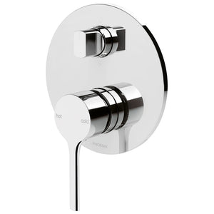 Phoenix Tapware Vivid Slimline Oval Shower / Bath Diverter Mixer (Chrome) VV791CHR