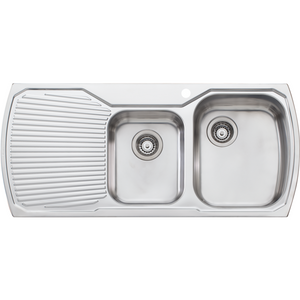Monet 1 & 3/4 Bowl Topmount Sink with Drainer