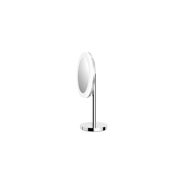 Plaza Free Standing Magnifying Mirror with LED Light (Chrome)