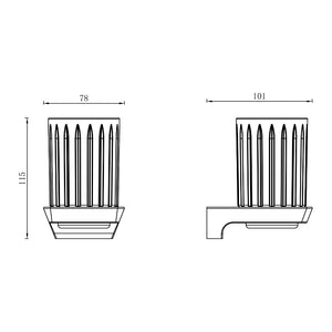Synergii Glass Holder (Line Drawing)