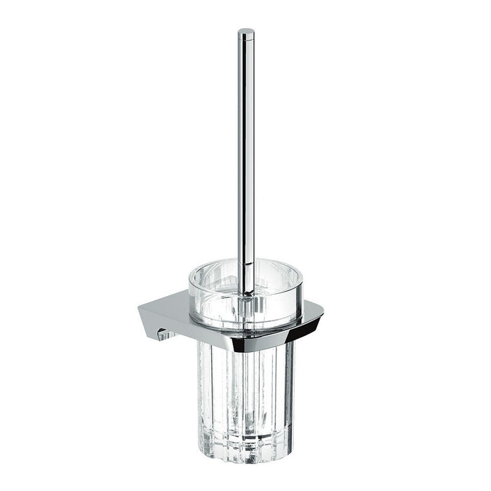 Synergii Toilet Brush with Glass Holder (Chrome)