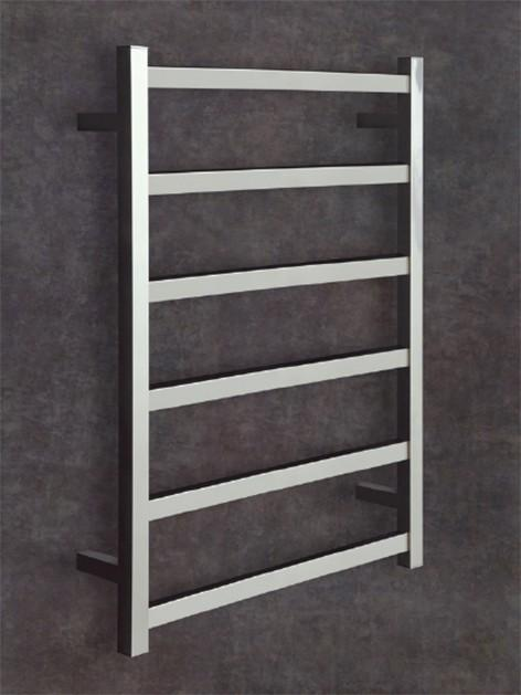 Thermorail Budget Heated Towel Rail Square 6 Bars BS28M