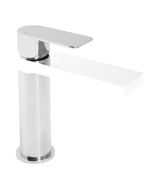 Cosmopolitan Basin Mixer (Chrome and White)