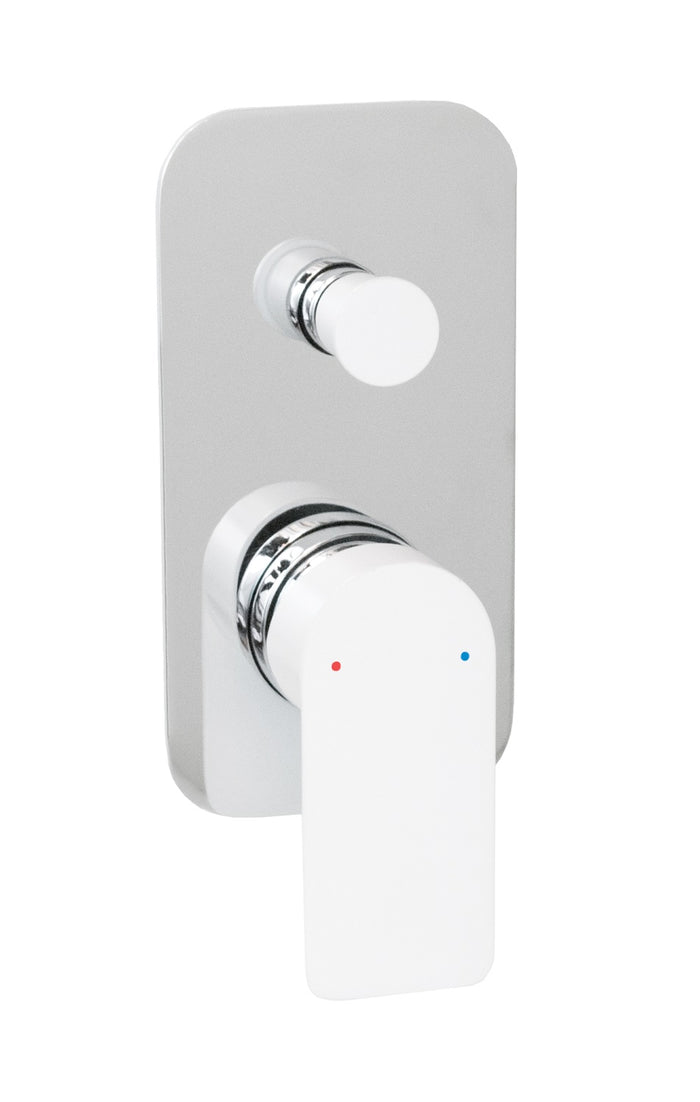 Cosmopolitan Wall Diverter (Chrome and White)