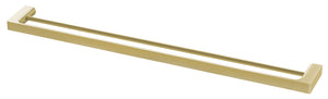 Gloss Double Towel Rail 800mm (Brushed Gold)