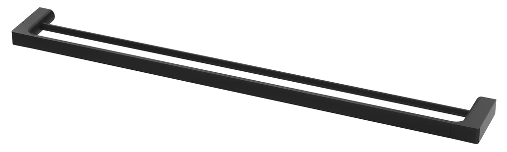Gloss Double Towel Rail 800mm (Matte Black)
