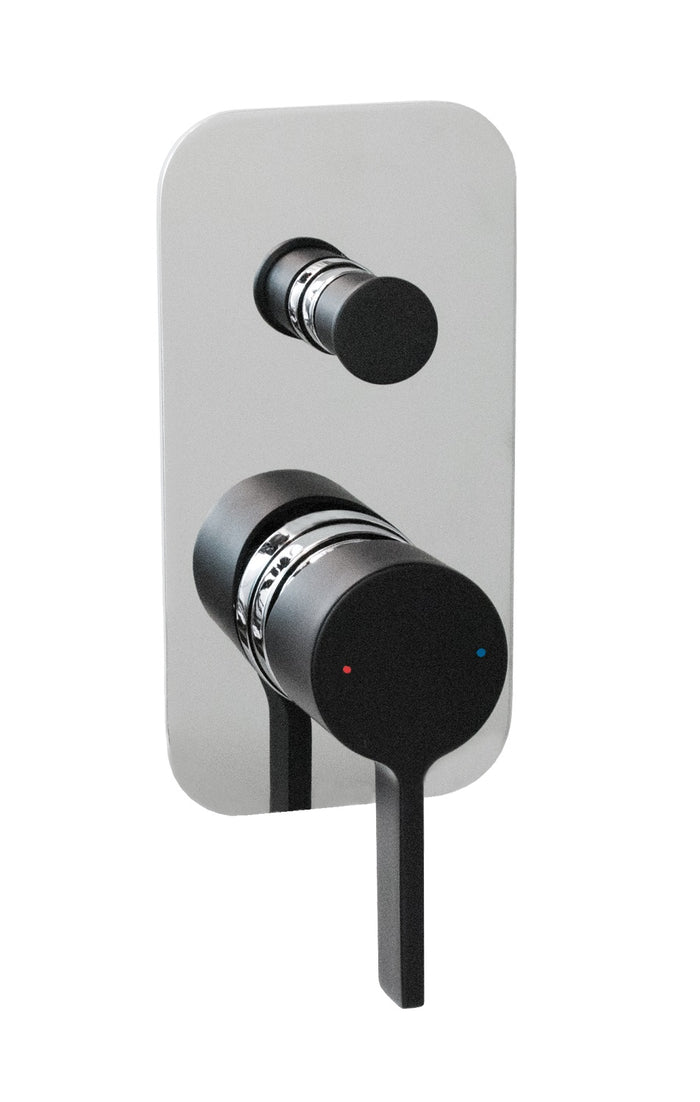 Martini Wall Diverter (Chrome and Black)
