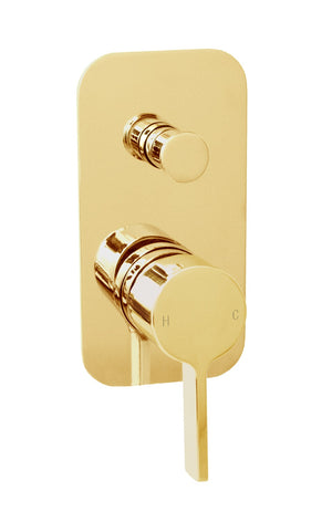 Martini Ritz Wall Diverter (Polished Gold)