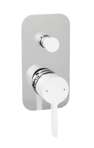 Martini Wall Diverter (Chrome and White)