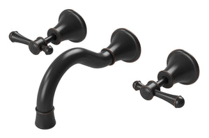 Nostalgia Lever Bath Set 180mm Shepherds Crook (Antique Black)