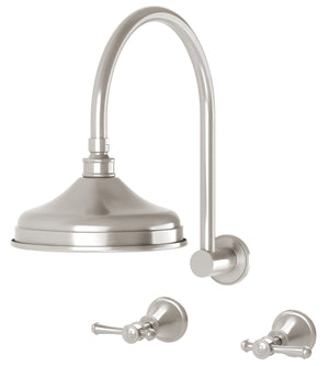 Nostalgia Lever Shower Set (Brushed Nickel)