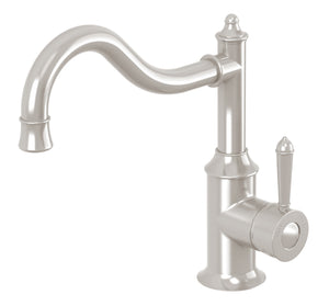 Nostalgia Sink Mixer 220mm Shepherds Crook (Brushed Nickel)