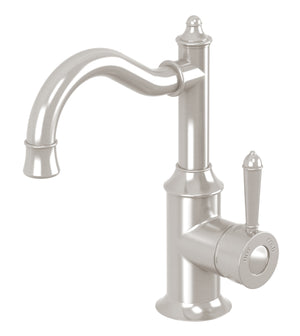 Nostalgia Basin Mixer 160mm Shepherds Crook (Brushed Nickel)