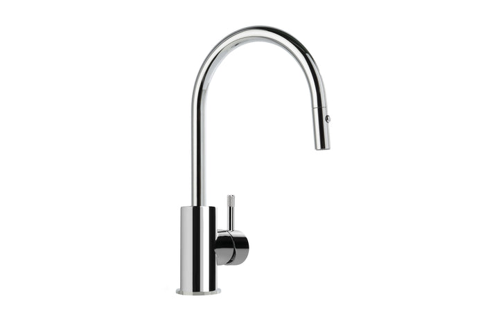 Yokato Kitchen Mixer with Pullout Spray and Knurled Lever (Chrome)