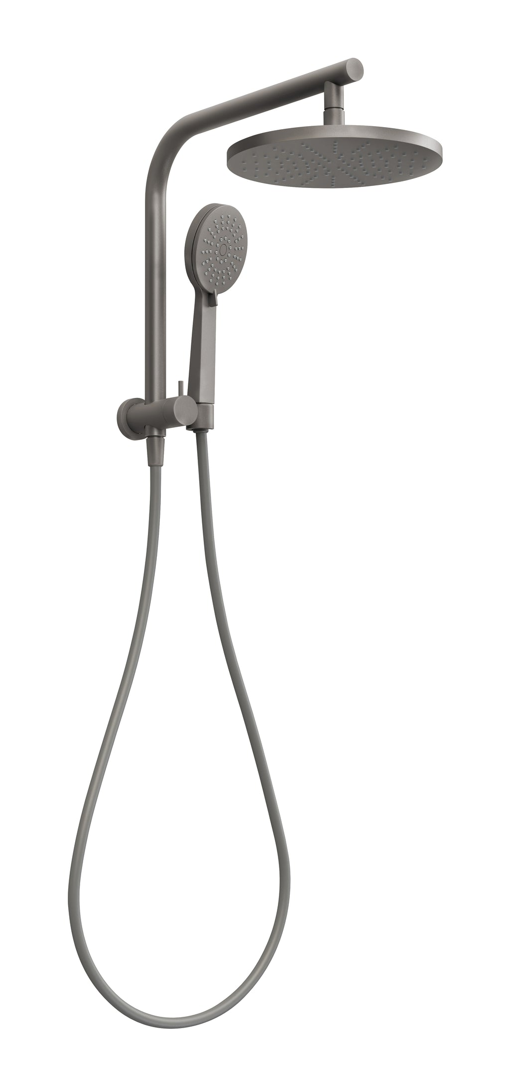 Vivid Slimline Compact Twin Shower (Gun Metal)