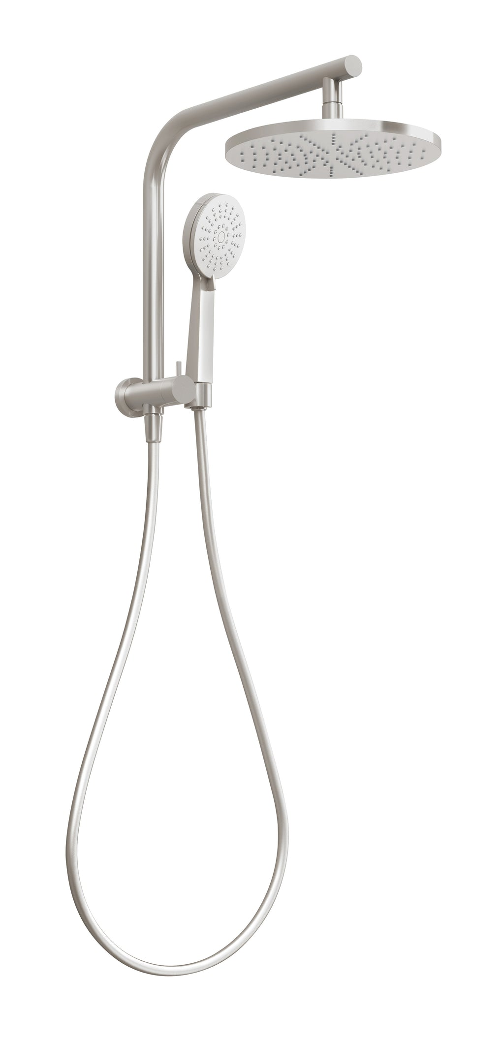 Vivid Slimline Compact Twin Shower (Brushed Nickel)