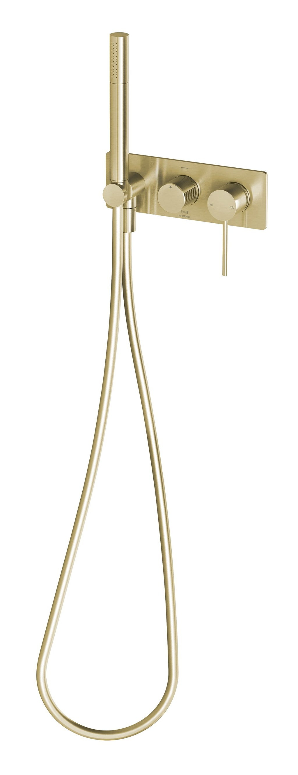 Vivid Slimline Wall Shower System (Brushed Gold)