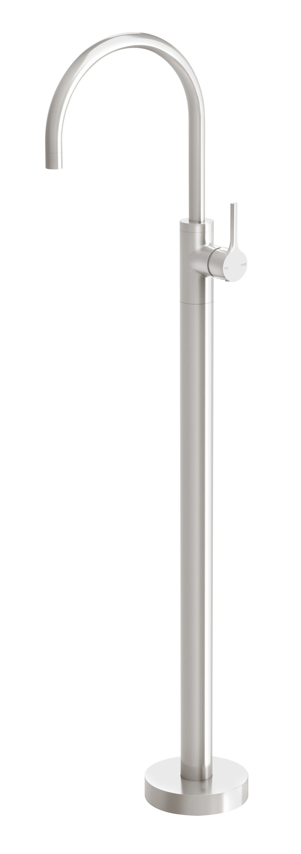 Vivid Slimline Oval Floor Mounted Bath Mixer (Brushed Nickel)