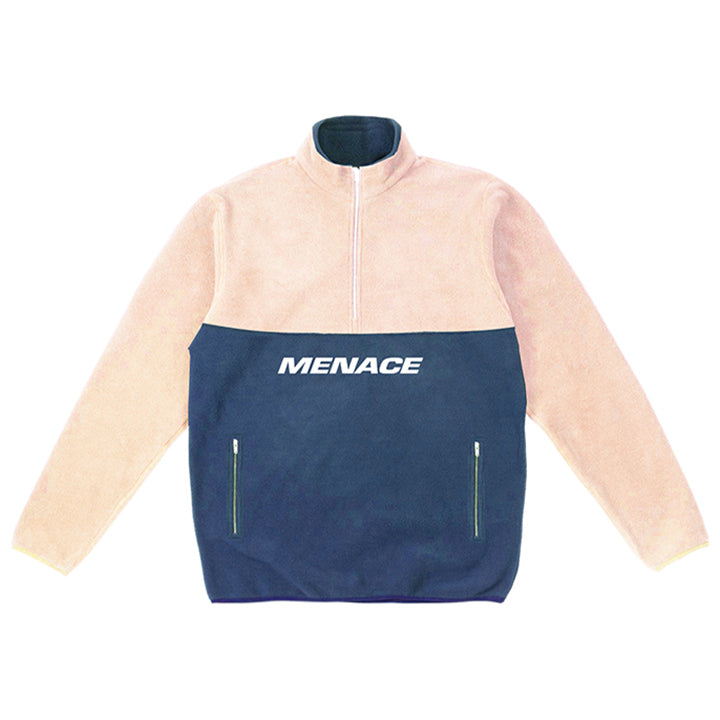 BRUSHED FLEECE HALF-ZIP JACKET Fleece Half-Zip MENACE Los Angeles Streetwear Clothing